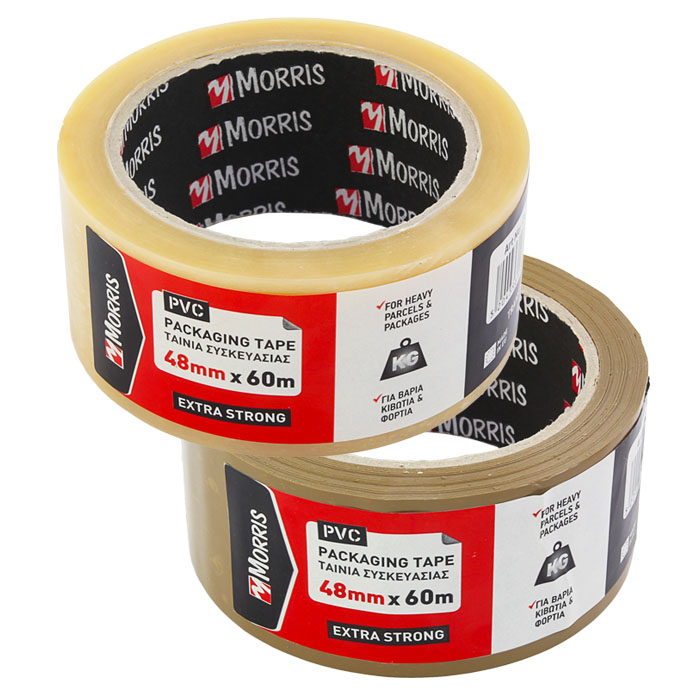 Packing tape low noise pvc morris deco