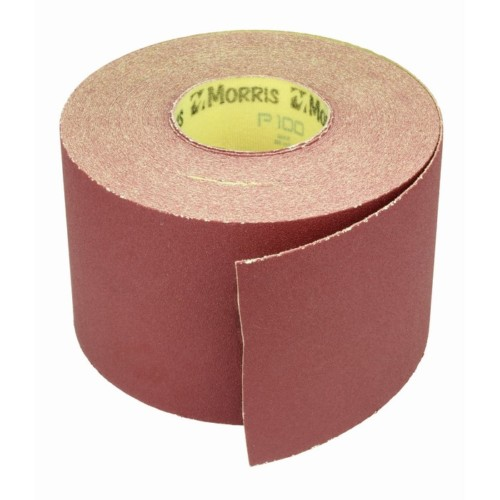 Item-3123-ABRASIVE PAPER VELCRO ROLL 115mm x 25m
