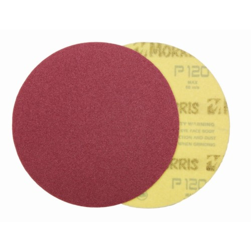Item-3127-VELCRO DISC RED  125 mm NO HOLES   ΜΟRRIS