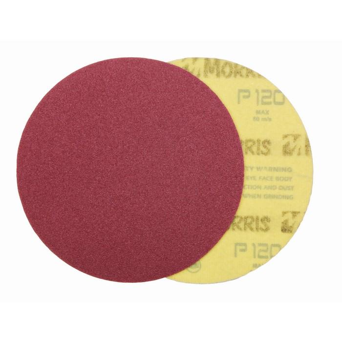 Item-3127-VELCRO DISC RED  125 mm NO HOLES   ΜΟRRIS
