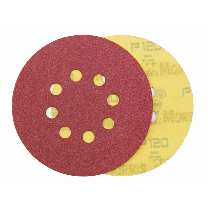 Item-3128-VELCRO DISC RED  150 mm 6 HOLES   ΜΟRRIS