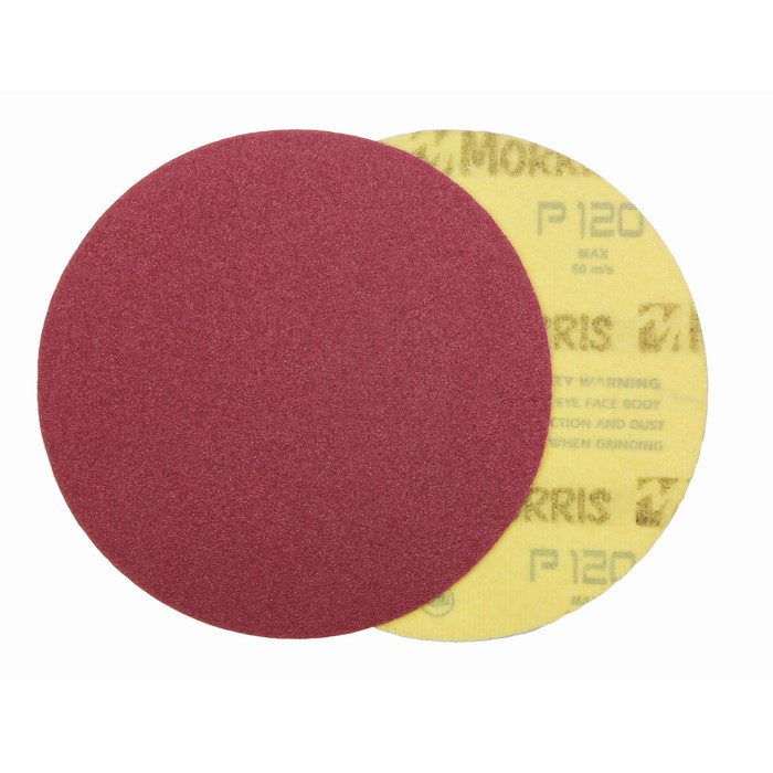 Item-3129-VELCRO DISC RED  150 mm NO HOLES   ΜΟRRIS