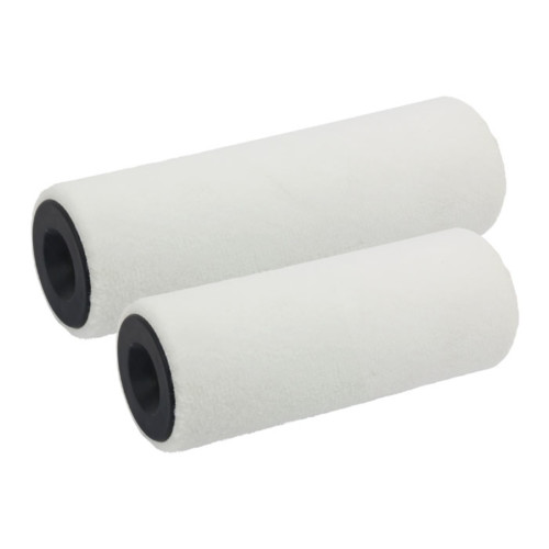Item-3286-MINI PAINT ROLLER FELT WHITE POLYESTER WOVEN 15cmX30mm