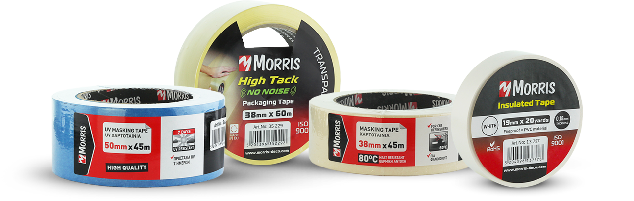 MORRIS Masking Tape, duct tape and other tapes
